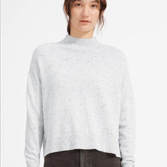 Everlane cashmere mockneck sweater donegal